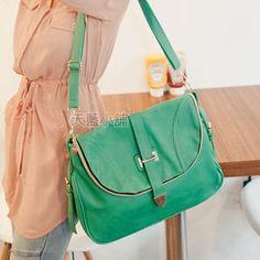 Skyblue - Flap Shoulder Bag