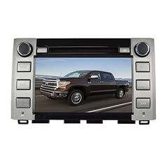 Center For Toyota Sequoia Tundra 2014 2015 GPS Car Navigation In Dash DVD Player 8 Inch Bluetooth Free Maps with 8GB SD Card Sat Nav FM Remote Control
