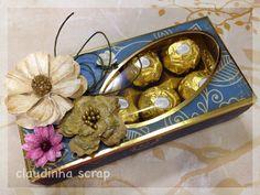 Oficina da Claudinha: PAP - Passo a passo lembrancinha caixa de Ferrero Rocher