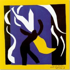 """Matisse's """"signed""""Rouge et Noir front curtain"""