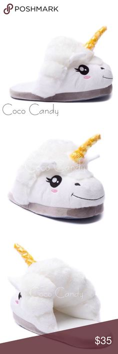 ⭐️SALE‼️Unicorn Slippers Unicorn Slippers✨  Size: 7.5 (Small/Medium)✨  Color: White & Pink✨  New With Tags✨  Stay warm in these super soft & plush unicorn slippers. Perfect for lounging. Very cute & comfortable. Great for lounging. Will fit sizes small & medium✨  Buy now or submit a offer today✨  ⭐No Trades ⭐No Modeling ⭐️Use The Offer Button ⭐️15% Off 2 Or More Items ⭐️Free Gift With Every Order ⭐️Same Day / Next Day Shipping Slippers Shoes Slippers