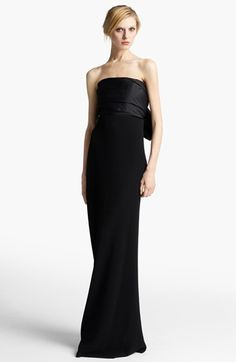 Lanvin Strapless Bow Back Gown $5,785.00…