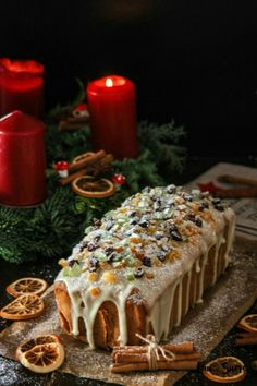 Fruit Pound Cake with Orange glaze – Cau de sucre Pan Dulce, Christmas Desserts, Christmas Baking, Christmas Cakes, Holiday Cakes, Fruit Sponge Cake, Fruit Cakes, Winter Torte, Cupcake Cakes