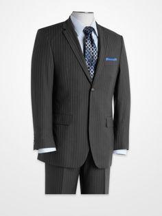 5c80aa73de Men s Suits - Blair Underwood Charcoal Pinstripe Modern Fit Suit - K  Fashion Superstore