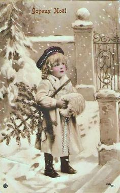 Future image for glass...Vintage Country Style: Vintage French Christmas Postcard Printables! FREE