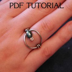 Tutorial Lasso Wire Wrap Ring by chinookdesigns on Etsy, $7.00