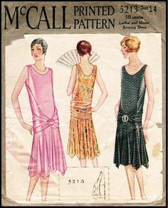 McCall #5213 - 1920's Fancy Frock with Wrap Around Back