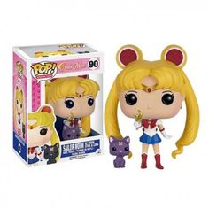 This is a Funko Sailor Moon with Luna POP Vinyl Figure. Standing inches tall, the Sailor Moon POP Vinyl figure is super cute! It's great to see that the Sailor Moon characters finally got their v Sailor Moon Luna, Sailor Uranus, Sailor Mars, Sailor Moon Crystal, Figurines D'action, Pop Figurine, Pop Vinyl Figures, Sailor Scouts, Animation