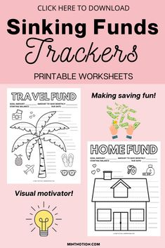 Sinking funds tracker printable to track and organize your sinking funds. Here's a list of the top sinking funds categories that you need in your budget. Sinking funds can be a great way to save money without having to dip in your emergency fund or go into debt. Sinking funds template. Printable Worksheets, Printables, Sinking Funds, Life On A Budget, Debt Free Living, Paying Off Student Loans, Create A Budget, Frugal Living Tips, Love Your Life