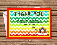 40 Best Children S Birthday Party Thank You Cards Images On