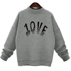 Chic Stand Collar Long Sleeve Letter Print Women's Sweatshirt from $24.31 by NASTYDRESS