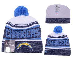 a4608a218 Men s   Women s San Diego Chargers New Era 2016 NFL Snow Dayz Knit Pom Pom Beanie  Hat - White   Navy   Blue