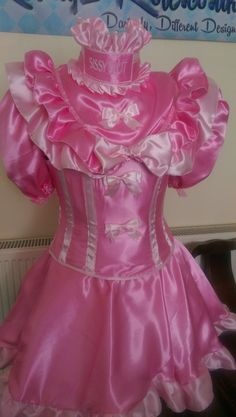 17 best images about sissy baby on sissy Frilly Dresses, Satin Dresses, Pretty Outfits, Pretty Dresses, Prissy Sissy, Feminized Boys, Maid Dress, Frou Frou, Everything Pink