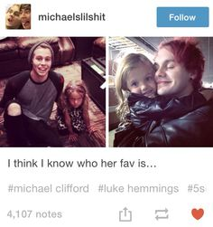 Yeah see the girl has good taste in guys already michael is my fav too