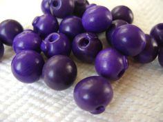 1940s Vintage Buttons  Grape Wood Bangle Balls or by AddVintage, $5.00