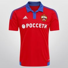 Camisa Adidas CSKA Home 2015 s/nº - Vermelho+Azul