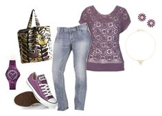 """Untitled #102"" by bkassinger ❤ liked on Polyvore featuring moda, Converse, GUESS, Jennifer Meyer Jewelry y Betsey Johnson"