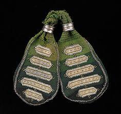 Miser's purse Date: 1840–60 Medium: cotton, metal | The Metropolitan Museum of Art