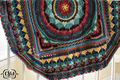 Sophie's Universe - Parts 1-7 - how to choose yarn colors for this crochet blanket cal on Colorful Christine