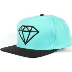 Diamond Rock Logo Snapback Hat (Diamond Blue/Black) $39.95