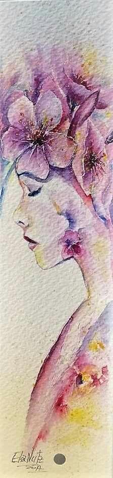 Ilustration flower girl watercolor