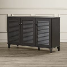 Shoe Storage Cabinet is part of Shoe cabinet Storage - Perfect in the entryway or walkin closet, this design corrals flats and sneakers in effortless style Shoe Storage Cabinet, Cabinet Doors, Bedroom Storage Cabinets, Shoe Cabinets, Coat Storage, Home Decor Furniture, Diy Home Decor, Furniture Upholstery, Cabinet Furniture