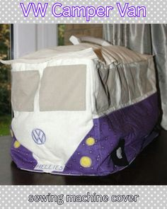 VW Camper Ven sewing machine cover.... complete with Hellie's number plate!!