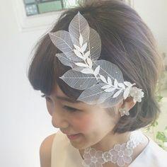 ヘッドドレス•リーフ Headdress, Wedding Accessories, Bridal Hair, Bride, Female, Lady, Hair Styles, Beauty, Veils
