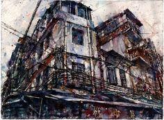 "Saatchi Online Artist: Michael Goro; Watercolor Painting ""Guangzhou"""