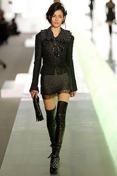 Chanel - Fall 2003 Ready-to-Wear Leather thigh high leggings fashion