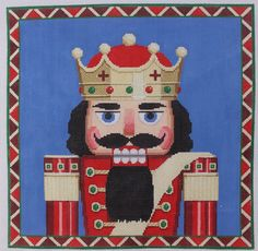 Susan Roberts Nutcracker King Bust Hand Painted Needlepoint Canvas | eBay