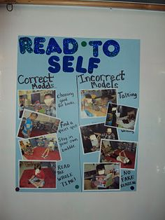Read to Self anchor chart...kinda a reading and management anchor chart...