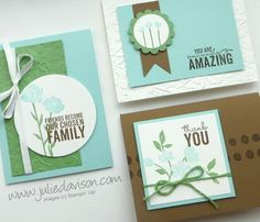 February 2015: Stampin' Up! Painted Petals Card Kit for Stamp of the Month Club #stampinup #cardkit www.juliedavison.com