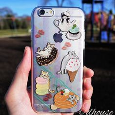 MADE IN JAPAN Soft Clear TPU Case Cats and Candy for iPhone 6 & iPhone 6s