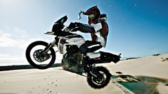 "ICON Motosport challenged Triumph's Tiger and riders Nick Brocha and Ernie Vigil with its grueling ""Portland to Dakar"" challenge. Rally Raid, Triumph Tiger, Motosport, Bike Rider, Great Videos, Extreme Sports, Cars And Motorcycles, More Fun, Photo Galleries"
