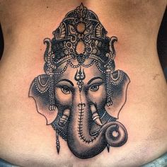 f You Think Ganesha Tattoos are Boring Then These 16 Pictures Will Change Your Mind Ganesha Tattoos, Hindu Tattoos, Buddha Tattoos, Ganesha Tattoo Back, Symbol Tattoos, Yoga Tattoos, Body Art Tattoos, Sleeve Tattoos, Tattoo Ink