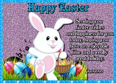 Cute bunny, cute verse, for a cute person in your life. Free online Easter Holiday Greetings ecards on Easter Thank You Wishes, Thank You Notes, Thank You Cards, Happy Easter, Easter Bunny, Family Wishes, Easter Holidays, Name Cards, Cute Bunny