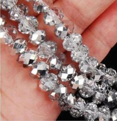 Wholesale Half Plated Rondelle Faceted Crystal Glass Loose Spacer Beads 4mm 6mm 8mm 10mm Pink Ture 100% Guarantee Jewelry & Accessories Beads