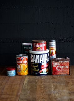 Don't mind the rust on these, a container for every occasion. Orange Drinks, Coffee Cans, Rust, Container, Projects, Black, Food, Log Projects, Blue Prints