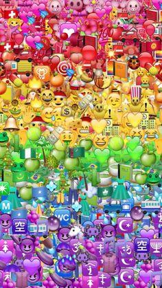 Emoji Source by xxxyagmurxxx Iphone Hintegründe, Emoji Wallpaper Iphone, Cute Emoji Wallpaper, Rainbow Wallpaper, Iphone Background Wallpaper, Tumblr Wallpaper, Cute Cartoon Wallpapers, Pretty Wallpapers, Aesthetic Iphone Wallpaper