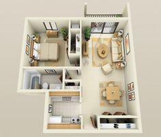 Neste apartamento moderno, você vai multar linhas simples, formas limpas, e um layout simples. Paragon Apartments
