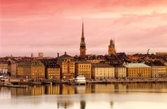 Stockholm looks almost like a fairy tale village in this shot.