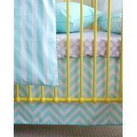 Custom Cot Valance - Paneled #mamadoo #cot #bassinet #bedding