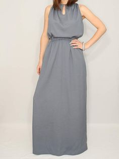 Hey, I found this really awesome Etsy listing at https://www.etsy.com/listing/195697815/long-grey-dress-dark-gray-dress-gray