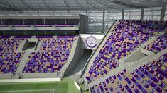 Soccer Stadium, Football Stadiums, Stadium Architecture, Architecture Design, Sport Hall, Mario, Concept, Club, Ideas