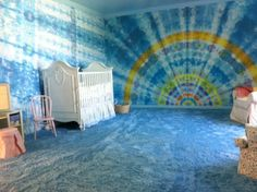 Tie Dye Walls you can paint yourself!!!!  I love this:)