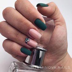 Glam Nails, Beauty Nails, Cute Nails, Stylish Nails, Trendy Nails, Diy Acrylic Nails, Basic Nails, Minimalist Nails, Green Nails