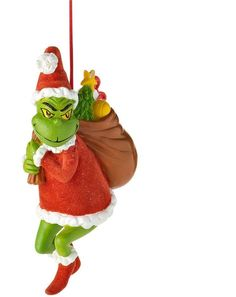 Celebrating THE GRINCH WHO STOLE CHRISTMAS: Department 56 Christmas tree ornament.