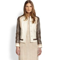Tory Burch Colorblock Leather Jacket Absolutely STUNNING and perfect for layering over a dress or simple tee! Brand new with $1,195 tag. 100% genuine leather. Fits true to size! No trades!! 0420161000dfs Tory Burch Jackets & Coats Utility Jackets