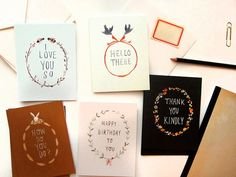 Blooms & Branches Greeting Card Collection by the Blackapple